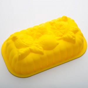 Форма для выпечки силиконовая желтая BE-4249S