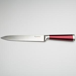 """Нож 20,3см для нарезки Alpenkok AK-2080/C """"Burgundy"""" с красной ручкой"""